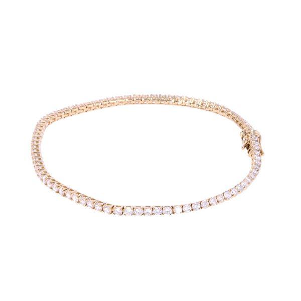 Brilliant 3.19 ct. Diamond 14k Gold Bracelet