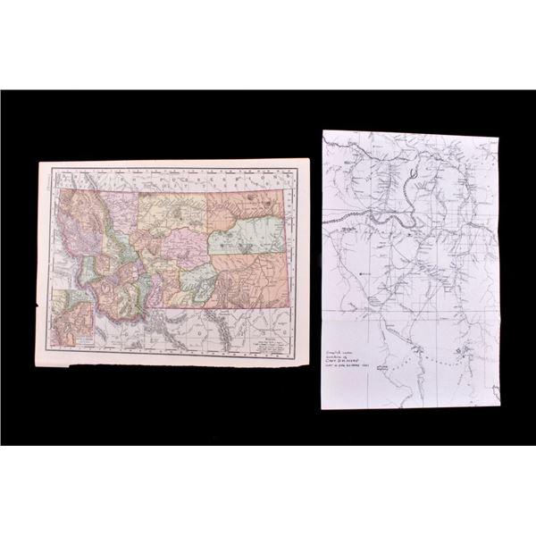 Late 1800's Montana Maps