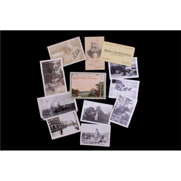 Early 1900's Photographs & Ephemera Of Montana