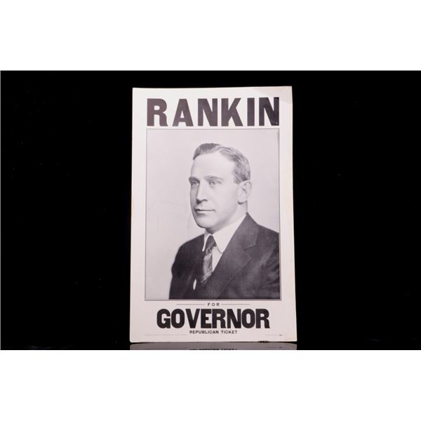 Rankin for Governor Republican Political Poster