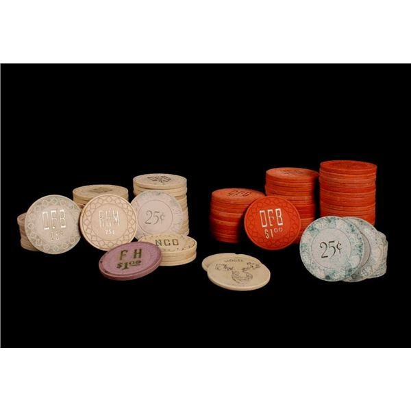 Collection of Poker Chips From Billings, Montana