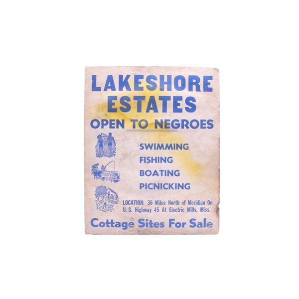 1950's Mississippi Lakeshore Estates Sign