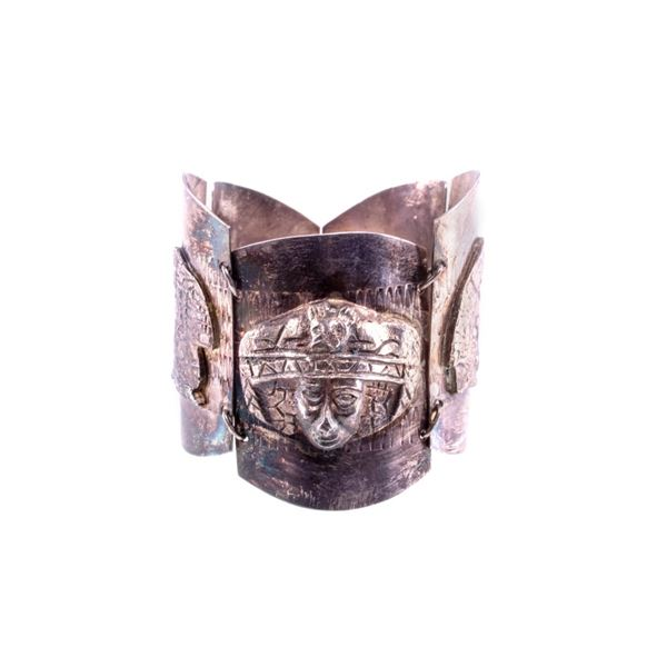 Taxco, Mexico Graduated Silver Effigy Bracelet