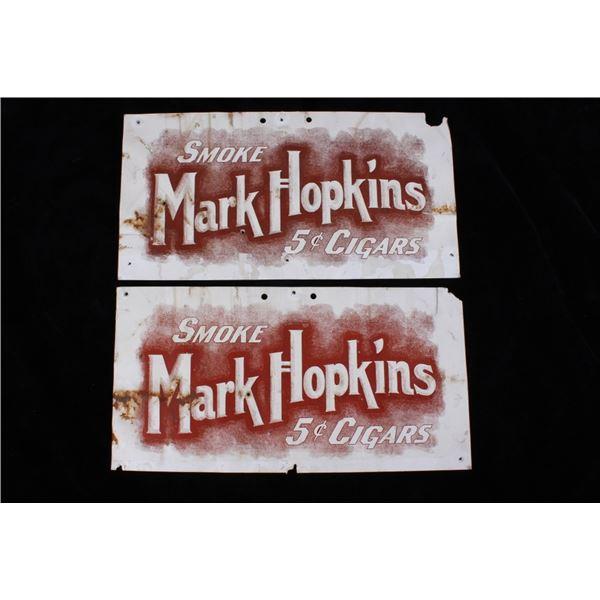 Vintage Mark Hopkins Cigar Advertising Signs
