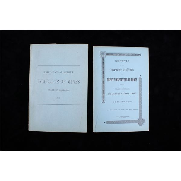 1890& 91 Annual Report Inspector Of Montana Mines
