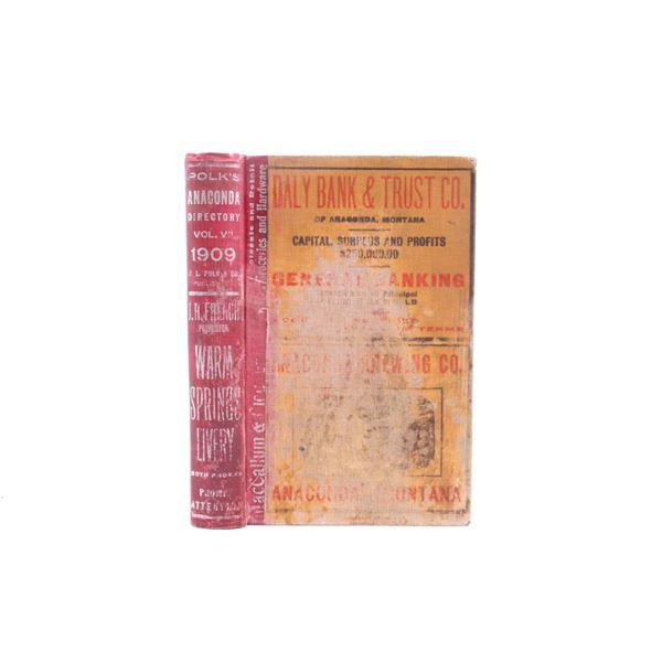 Polk's Anaconda Montana Directory 1909