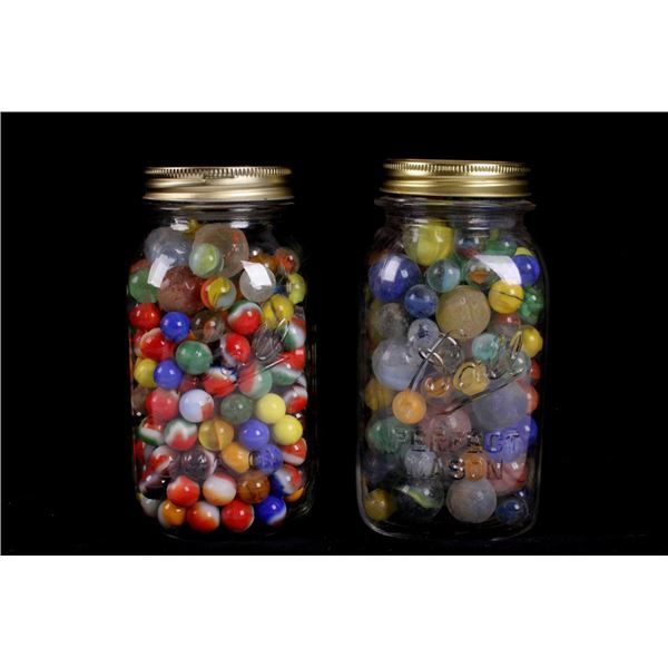 Collection of Assorted Vintage Marbles