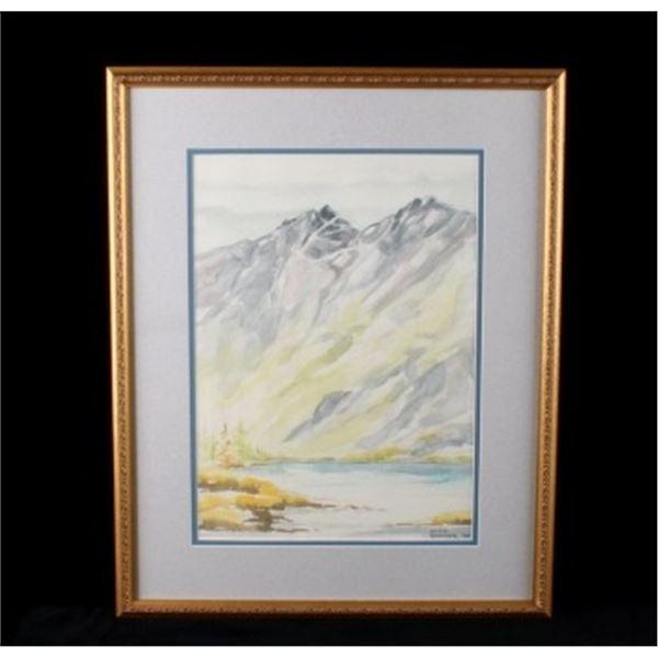 Alice Ryniker '94 Watercolor Mountains & Lake