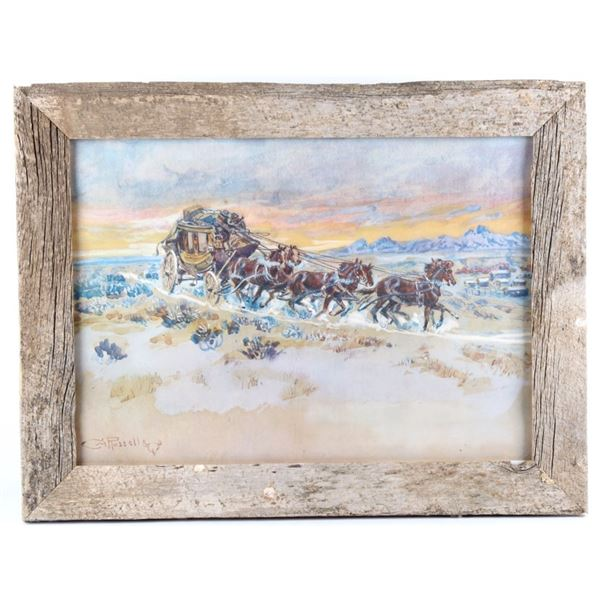 """Prairie Express"", Charles Russell Framed Print"