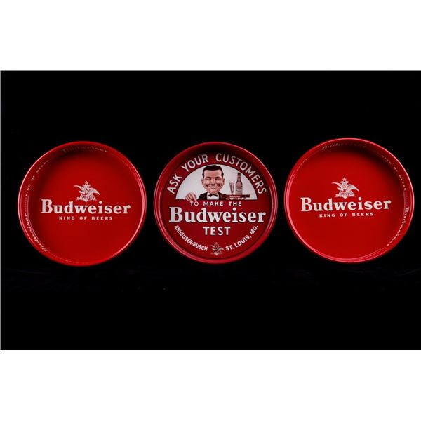Budweiser Beer Tray Collection of Three