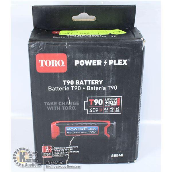 TORO POWERPLEX T90 40V MAX