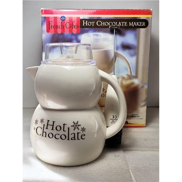 21)  IN ORIGINAL BOX, HOT CHOCOLATE MAKER