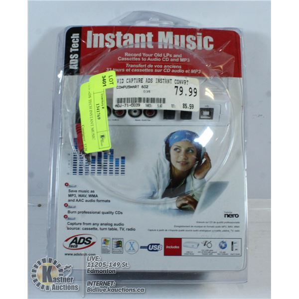 NEW ADS TECH INSTANT MUSIC