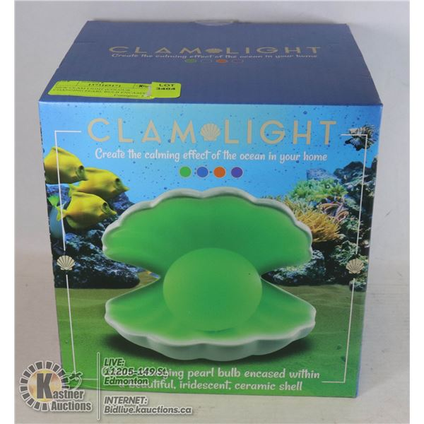 NEW CLAM LIGHT (COLOUR CHANGING PEARL BULB ENCASED