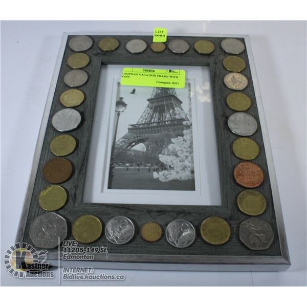 EUROPEAN VACATION FRAME WITH COINS