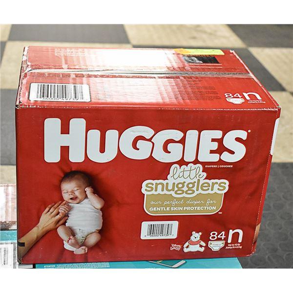 HUGGIES LITTLE SNUGGLERS SIZE N 84 PER BOX