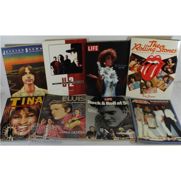 FLAT OF OLDER ROCK AND ROLL MUSIC BOOKS.