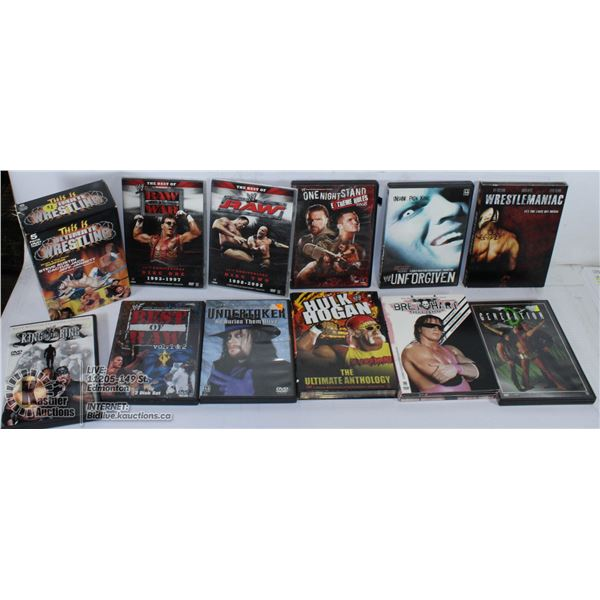 LOT OF WWE AND RAW MOVIES.