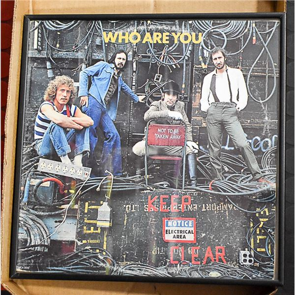 FRAMED WHO ALBUM COVER -WHO ARE YOU