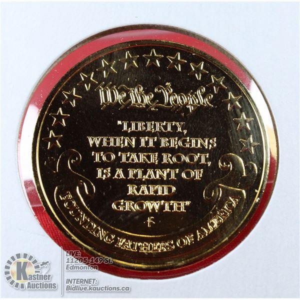 GEORGE WASHINGTON GOLD PLATED MEDAL