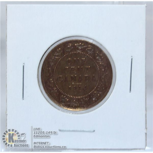 1914 GEORGE V CANADA LARGE CENT
