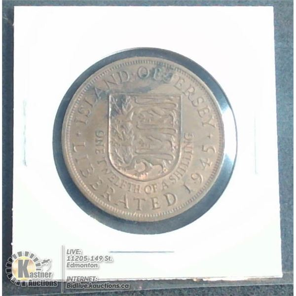 1945 ABOUT UNCIRCULATED JERSEY LARGE CENT
