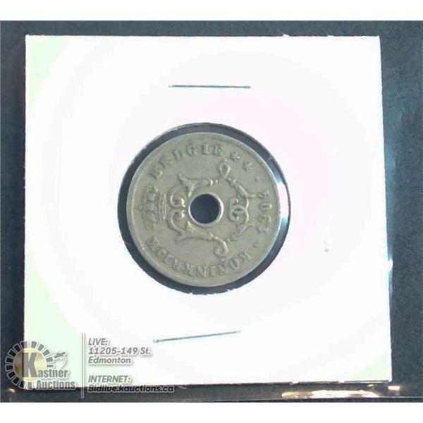 1904 BELGIUM 10 CENT COIN