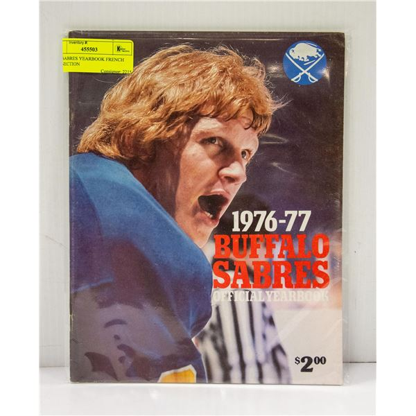 1976 SABRES YEARBOOK FRENCH CONNECTION