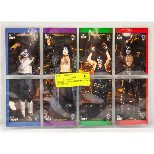 SCARCE LIMITED KISS PUZZLE CARD SET POSTER