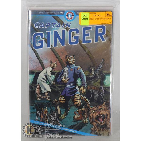 AHOY COMICS CAPTAIN GINGER #1-3