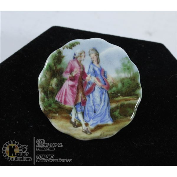 A VICTORIAN HAND PAINTED SIGNED BY THE ARTIST