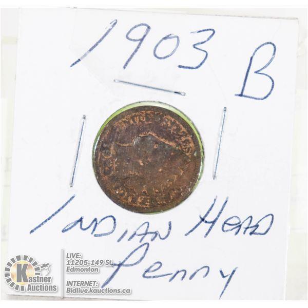 INDIAN HEAD PENNY 1903 B