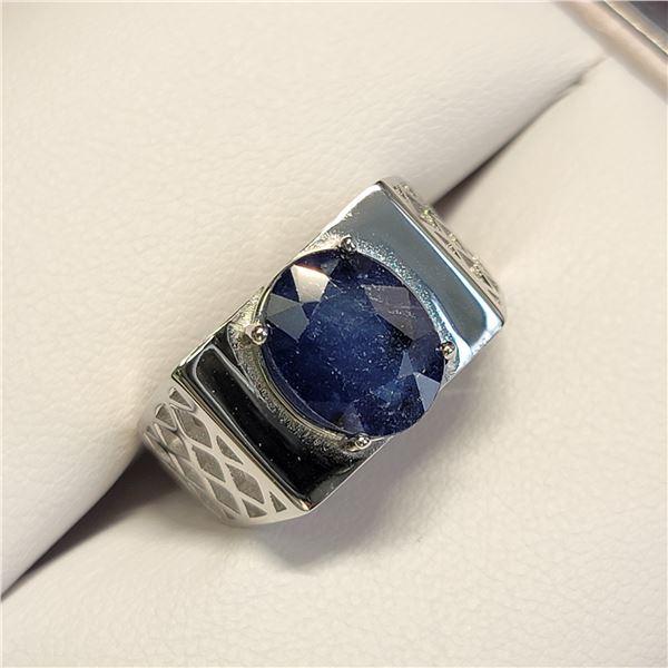 MZ6-48 SILVER SAPPHIRE RING