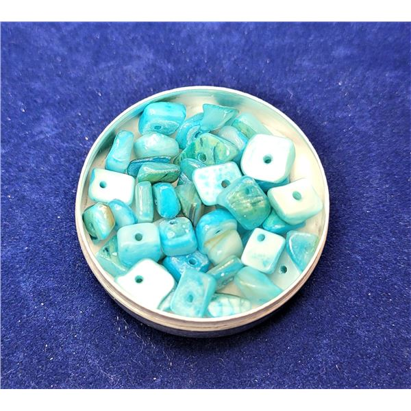 23)  LOT OF 12.7 GRAMS OF TURQUOISE BLUE
