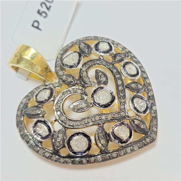 BZ390-136 SILVER DIAMOND PENDANT