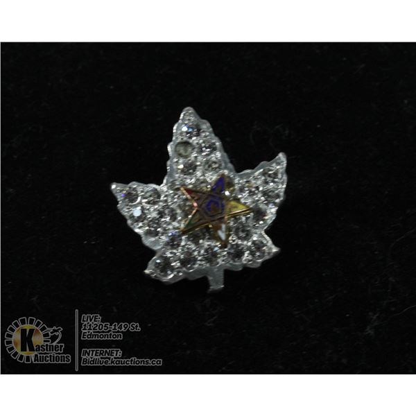 925 SILVER MAPLE LEAF WITH AUSTRALIAN CRYSTALS