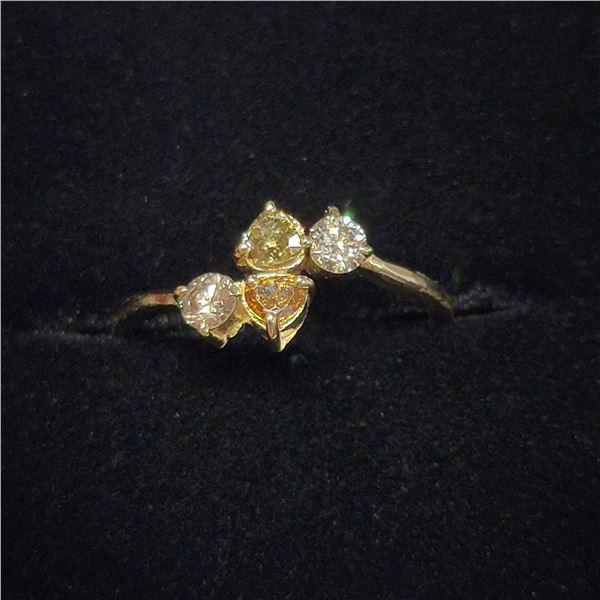 MZ6-16 10K  COLOR DIAMOND (SI-1, YELLOW AND BROWN)