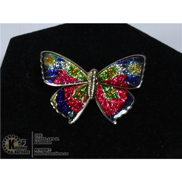 VINTAGE 1970S BUTTERFLY WITH RAINBOW