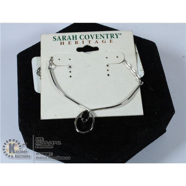 SILVER SARAH COVENTRY MARKED CHOKER NECKLACE