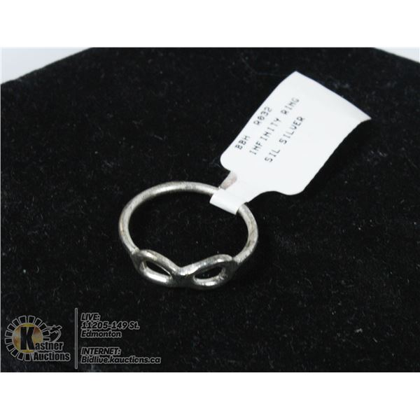 SILVER INFINITY RING WITH THE PRICE TAG