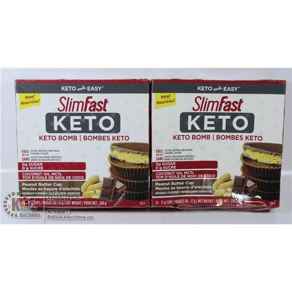 2 BOXES OF SLIMFAST KETO BOMB GLUTEN FREE 0G SUGAR