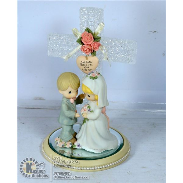 """PRECIOUS MOMENTS"" BRIDE/GROOM CAKE TOPPER"