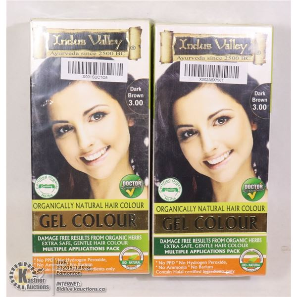 TWO BOXES OF INDUS VALLEY DARK BROWN ORGANICALLY