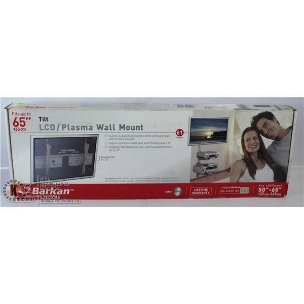 "BARKAN TILT LCD/PLASMA WALL MOUNT FITS 50-65"" TVS."