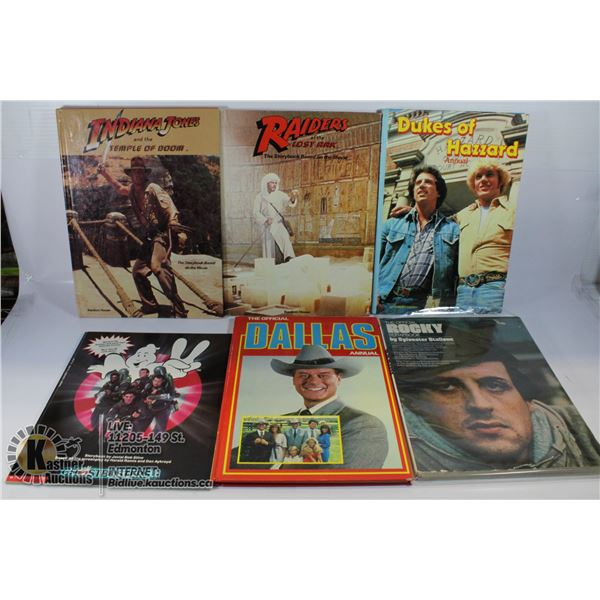 FLAT OF MOVIES BOOKS INCLUDES ROCKY. DUKES OF
