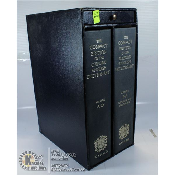 BOX SET THE COMPACT EDITION OF THE OXFORD ENGLISH