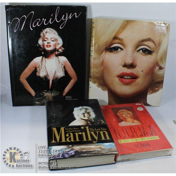 LOT OF MARILYN MONROE BOOKS