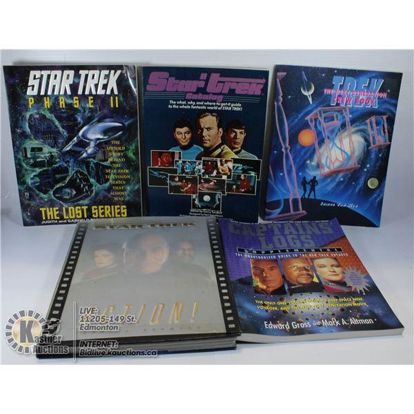 LOT OF 5 STAR TREK BOOKS.