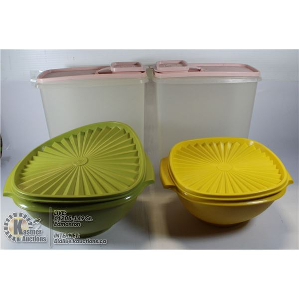 VTG 4 TUPPERWARE CONTAINERS