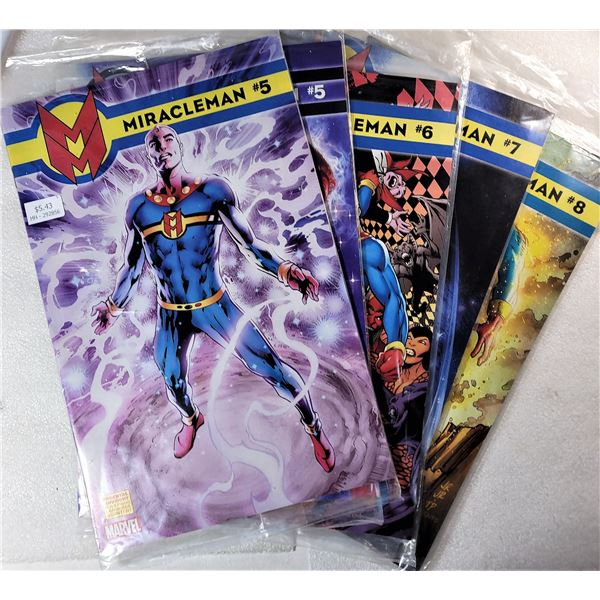 11)  LOT OF 5 MARVEL'S MIRACLE MAN COMIC BOOKS